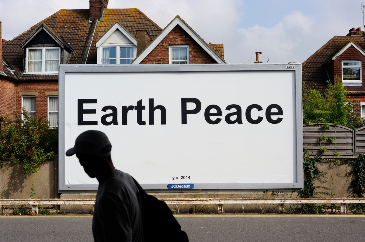 Image Earth Peace 2014 by Yoko Ono