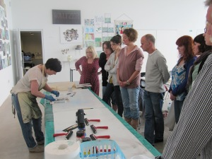 Image Perspex etching workshop